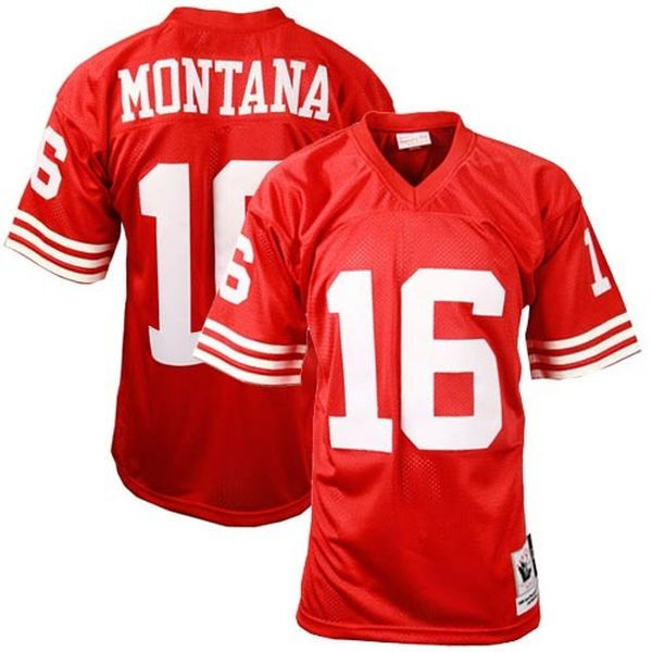 joe montana san francisco 49ers mitchell ness authentic throwback jersey 249.99 mens