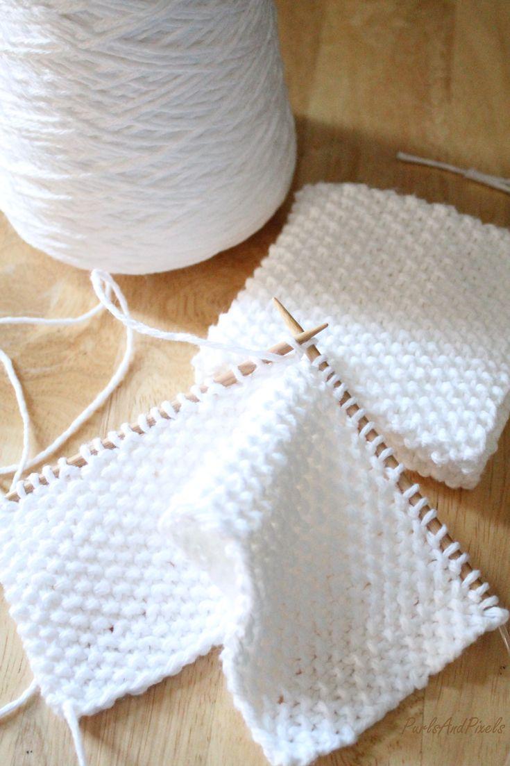 Seed Stitch Washcloth Free Knitting Pattern | Beginner ...