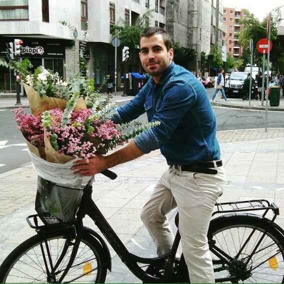 Bellboy on bike