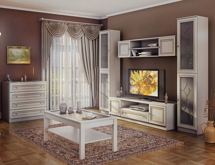 Ace Decore VENICE White Livingroom   Exclusive Design, Classic Look. It Is  Available In · Wall UnitsWhite OakVenice Part 47