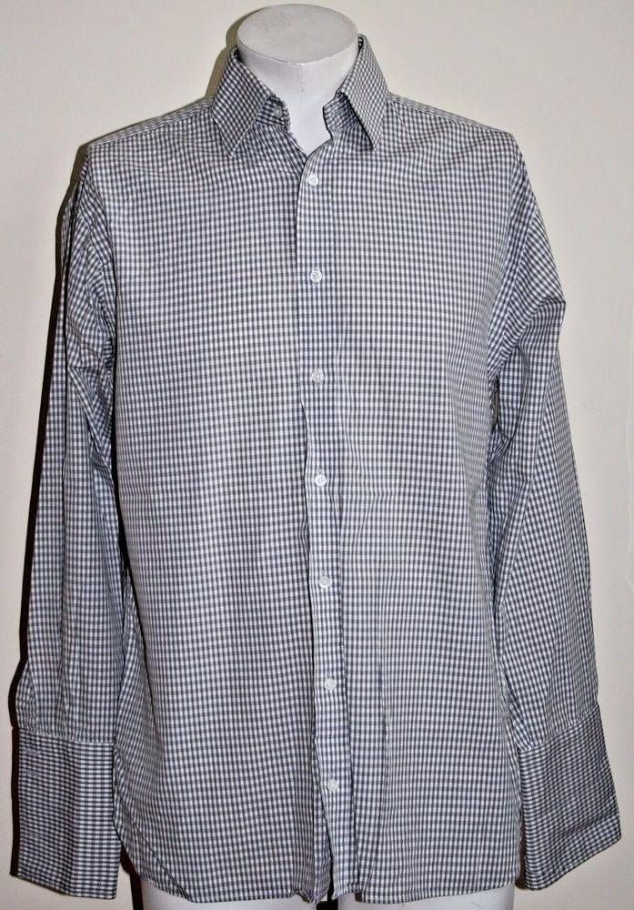 Jeff Banks Fashion Designer Mens Shirt Size 15 Cotton White For Cufkins Formal