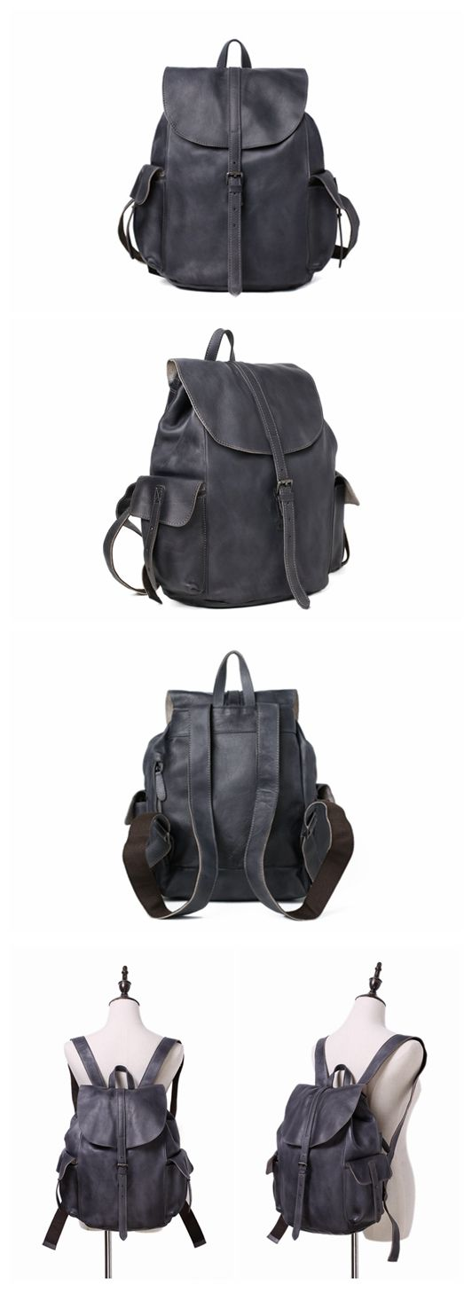 Handmade Genuine Leather Backpack Travel Backpack School Backpack 9017
