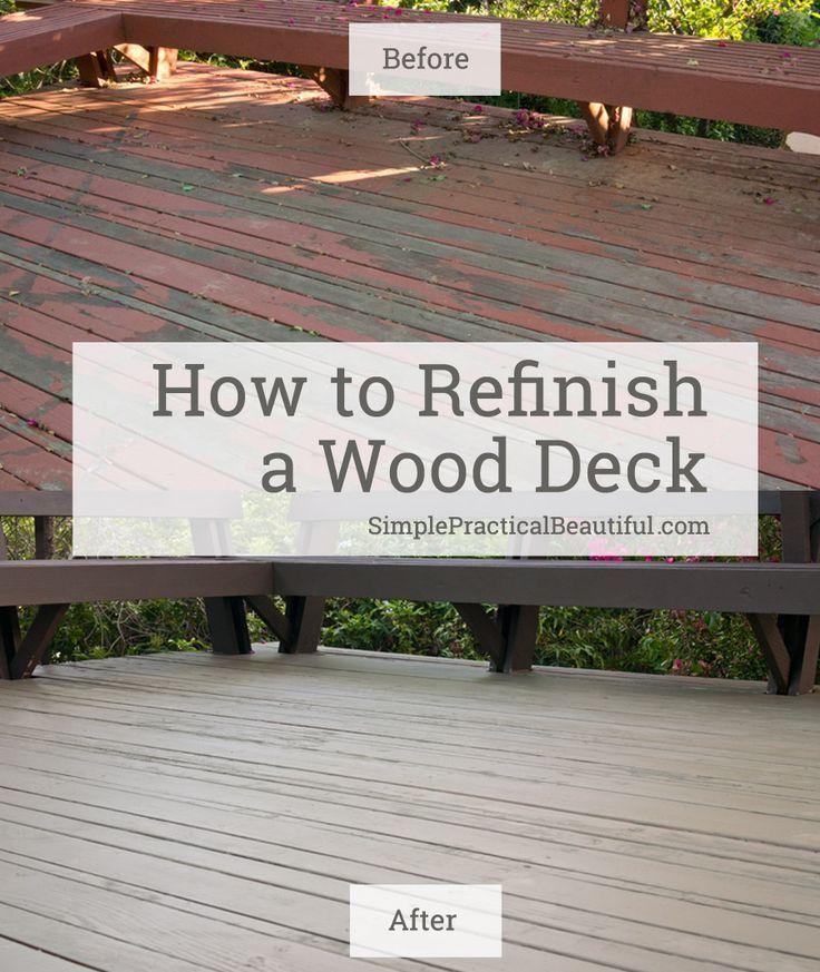 Reclaiming A Worn Out Deck Simple Practical Beautiful Wood Deck Diy Deck Deck Restoration
