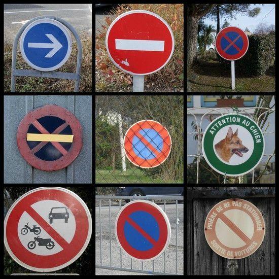 Album photo panneaux code de la route ronds