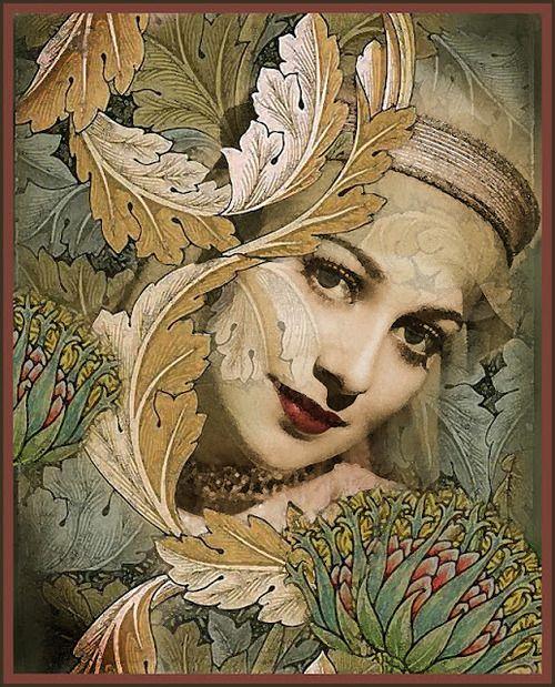 belaquadros:    Olivia de Havilland   art by Grannie Annie - The Whimsey Asylum
