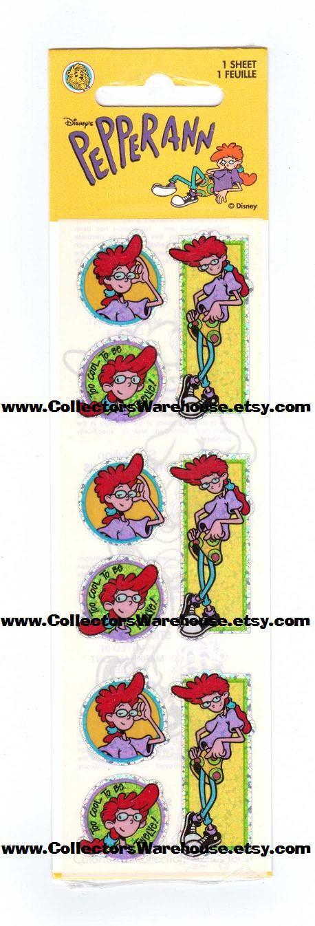 Disney's Pepper Ann Sandylion Sticker Strip NIP rare MOC by CollectorsWarehouse on Etsy