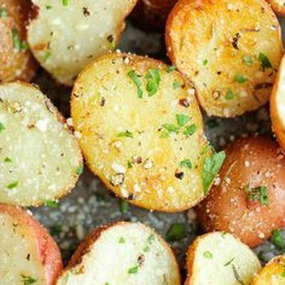 Air Fryer Garlic Parmesan Roasted Potatoes @keyingredient