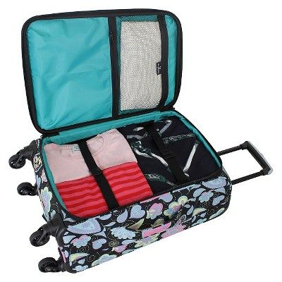 French West Indies 20 Carry On Luggage - Whimsy Paisley Pastel, Black
