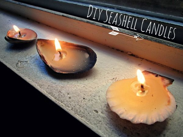 1000+ ideas about Seashell Candles on Pinterest   Shell candles ...