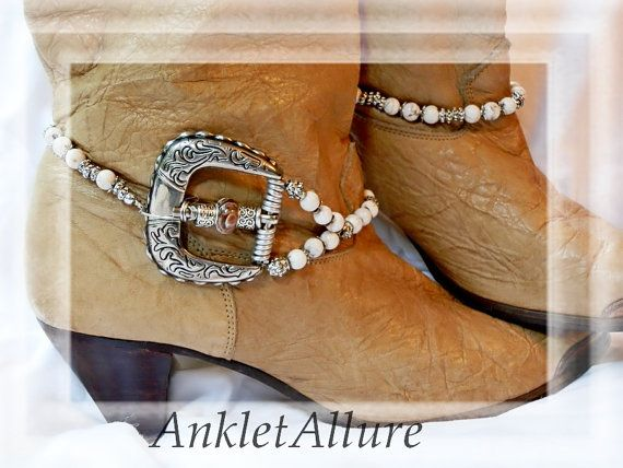 Vintage Belt Buckle Silver Boot Chains by AnkletAllure on Etsy, $32.00