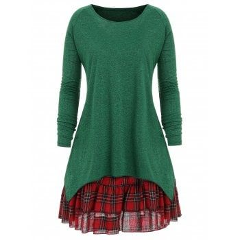 SHARE & Get it FREE   Christmas Plus Size Check Two Piece DressFor Fashion Lovers only:80,000+ Items·FREE SHIPPING Join Dresslily: Get YOUR $50 NOW!