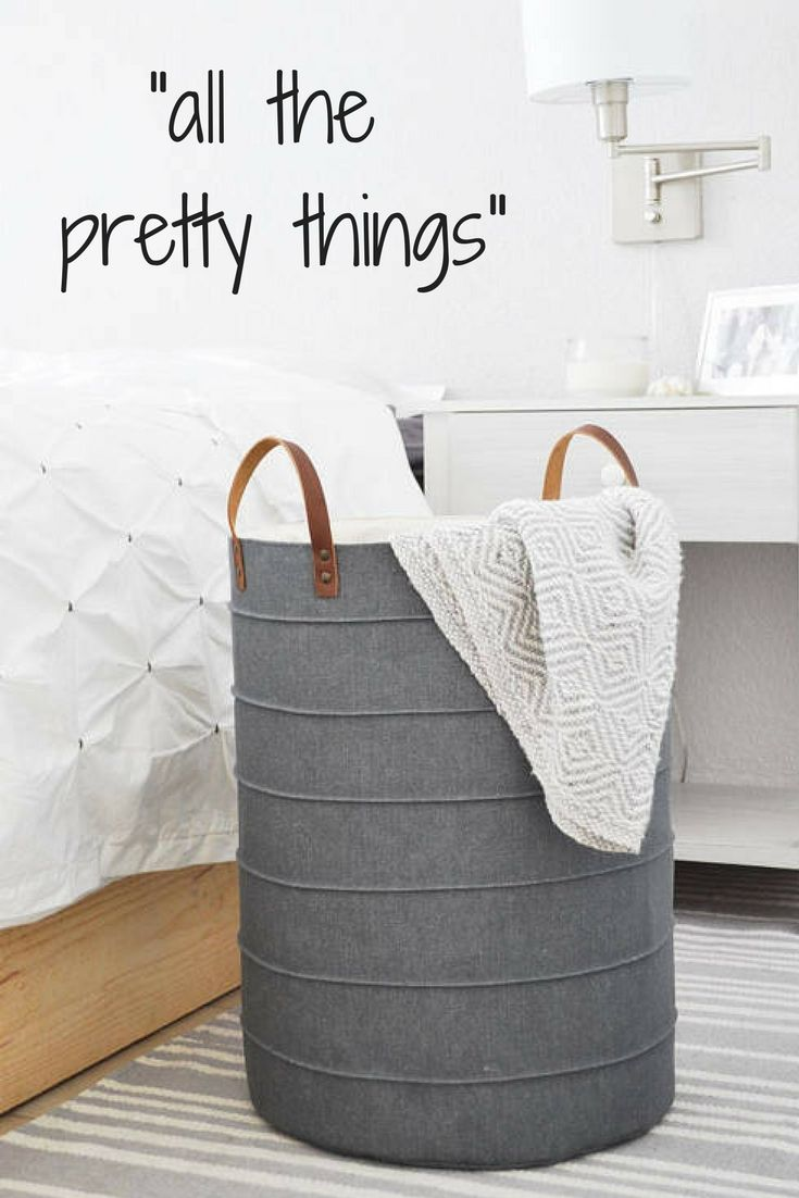 Laundry basket. Grey denim storage basket. Large laundry hamper. Storage bin. Toy storage. Toy box Baby hamper Boy nursery decor Wardrobe #laundryroom #laundry #nursery #nurserydecor #kidsroom #ad #baskets