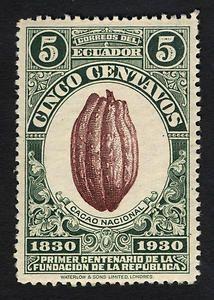 5c Cacao Pod single. 1930, Ecuador