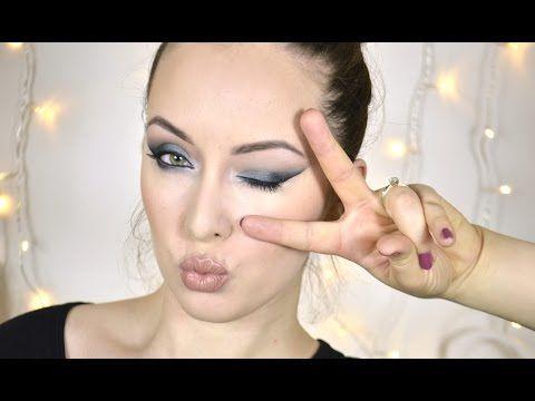 Zelenomodré výrazné smokey eyes | Na přání - YouTube