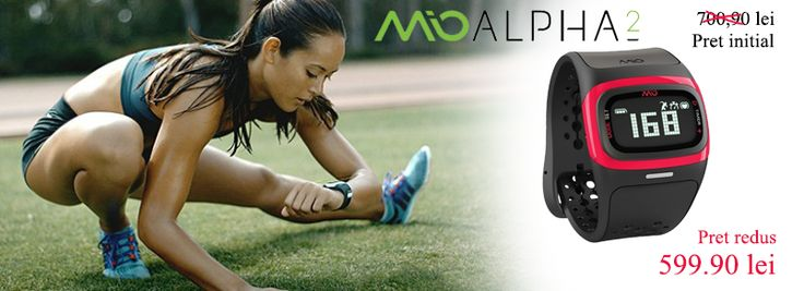 Bratara MIO Alpha 2 este conceputa special pentru a-ti monitoriza in mod continuu ritmul cardiac. #bratarafitness #mioalpha2