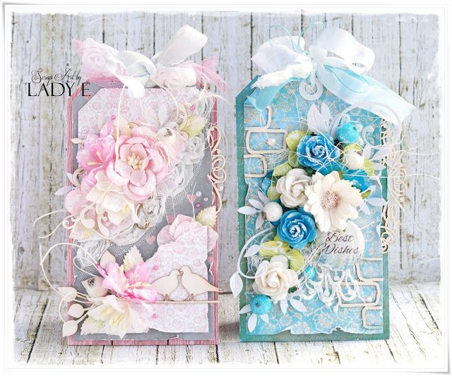 Scrap Art by Lady E: 2 Shabby Chic Tags - Wild Orchid Crafts DT