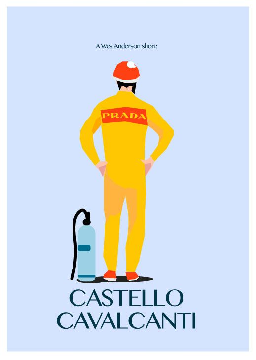 Selfmade poster for Wes Anderson short - Castello Cavalcanti http://www.youtube.com/watch?v=b87B7zyucgI More: http://kasza-ze-sokiem.blogspot.com/2014/01/wes-wes-wes.html