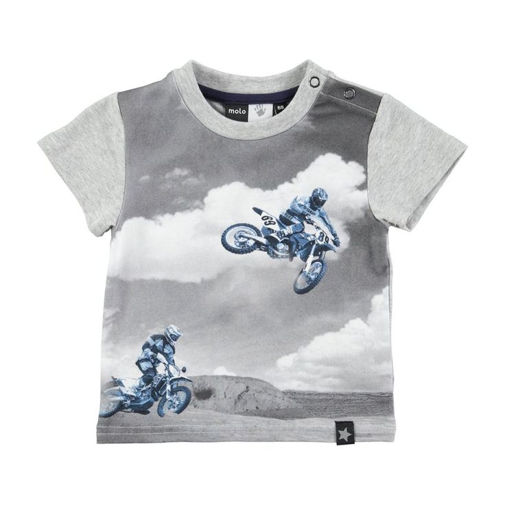 Wauuw Hoe cool dit Molo baby t-shirt Earl Blue Bikers... Daddy is going to be jealous.