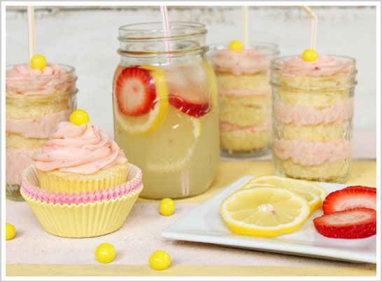 Strawberry Lemonade Cupcake Recipe