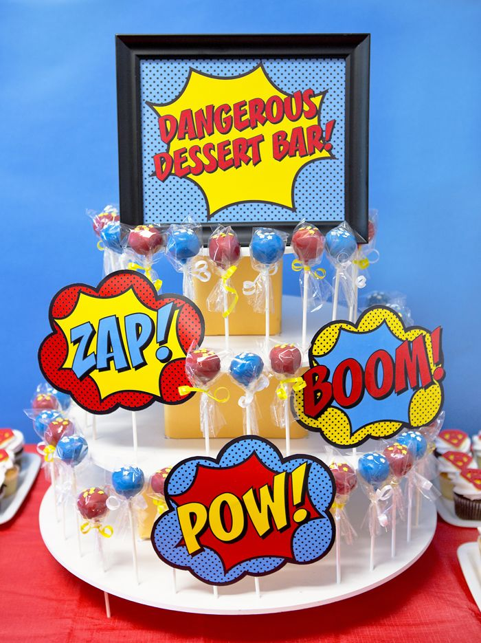 Superhero Staff Appreciation Week - Superhero Cake Pops