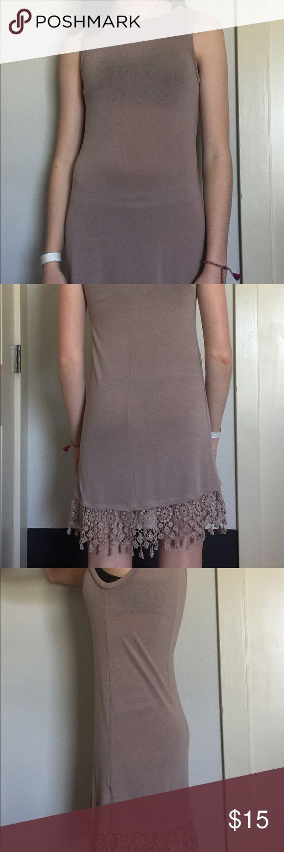 Beige summer dress Being light weight summer dress with flower pattern fat the bottom Charlotte Russe Dresses High Low