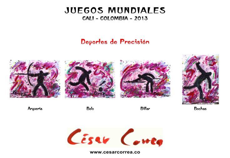 AFICHE JUEGOS MUNDIALES CALI 2013 DEPORTES DE PRECISIÓN