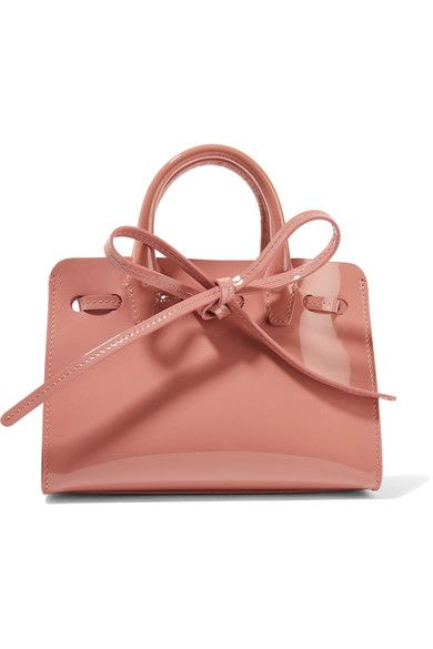 Blush patent-leather Mansur Gavriel Sun Mini bag