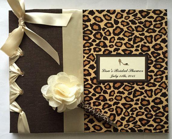 Cheetah Invitado Book-Cheetah Imprimir & por MichelleWorldesigns