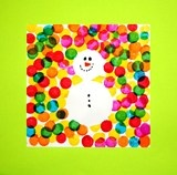 Ronds / Encre / Bonhomme de neige