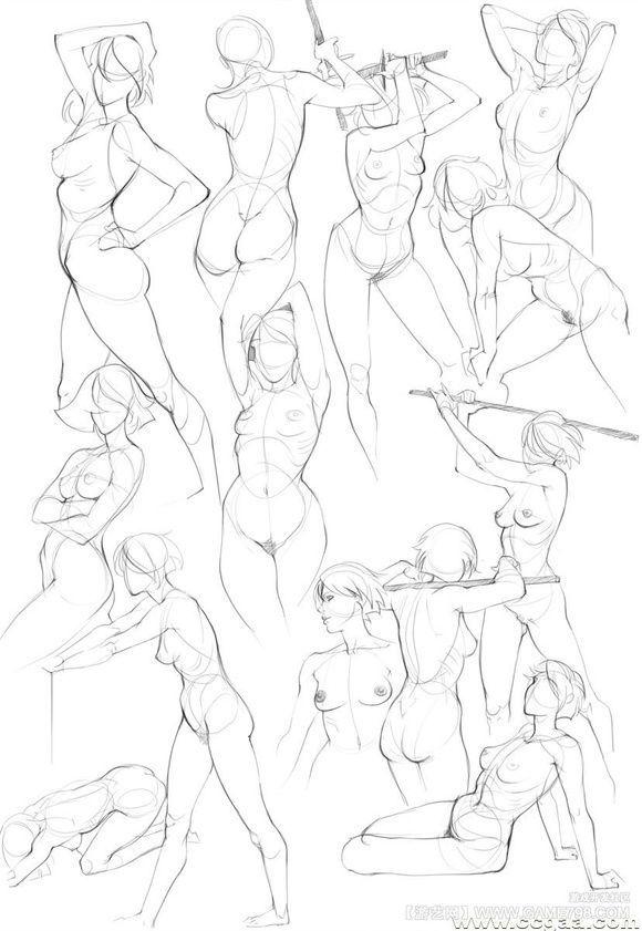 Female body sketches