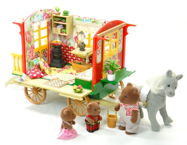 *fistuff* Sylvanian Families Decorated Vintage Gypsy Caravan Figures Horse, Lots