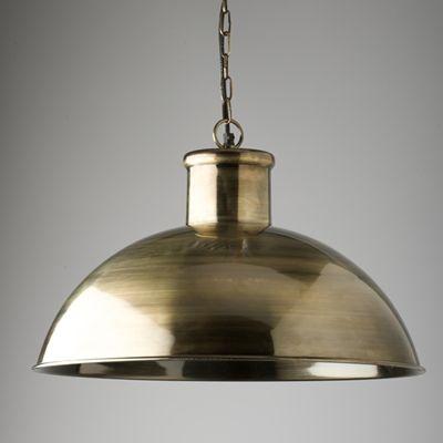 Large Antique Brass Pendant Light main image