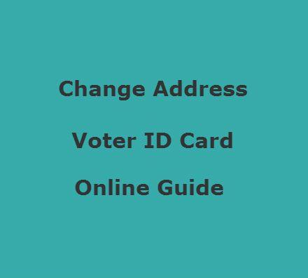 election card address change online