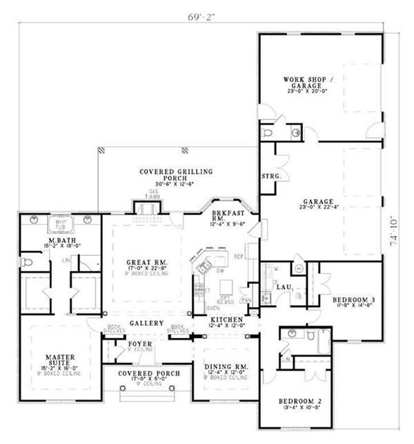 exceptional large ranch floor plans #5: 140 best House plans images on Pinterest | House floor plans, Dream house  plans and Architecture
