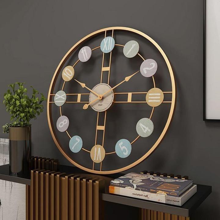 Silent Wall Clocks Decorative Wooden Iron Wall Clocks Lola Doo Oversized Wall Clock Wall Clock Modern Large Wall Clock Modern