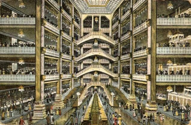 Párizsi Nagyáruház (Paris Department Store), Budapest, Hungary, c1911.