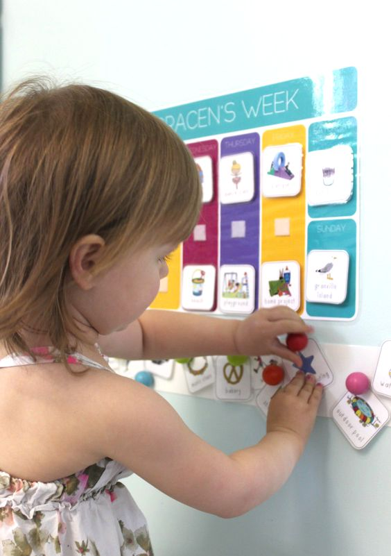 Idea for creating a Toddler calendar