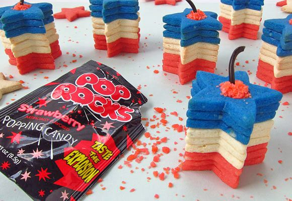 Exploding Star Cookie Stackers - the Pop Rocks 'explode' when you eat them!