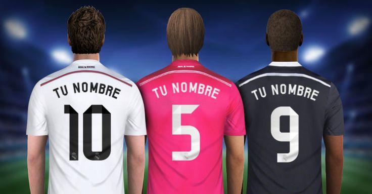 Crea la Camiseta de futbol de Real Madrid CF con tu Nombre y Numero. Personalizar camisetas. footballshirtmaker.com