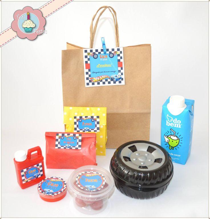 Kit personalizado Hot Wheels - lanche escolar - festa escolar