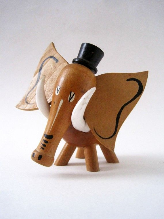 Vintage Elephant Toothpick Holder