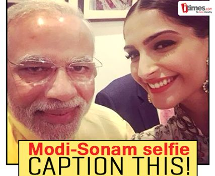 """#SonamKapoor didn't leave any chance to click the """"best selfie"""" ever. What's your take on the selfie? Caption it for us here"""