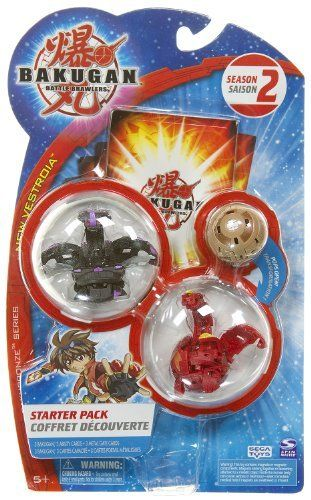 """Bakugan Series Bakugan Battle Brawlers Season 2 New Vestroia Starter Pack - """" NOT Randomly Picked"""", Sold As Shown In The Picture! (CQ687) by Spin Master. $25.99. Bakugan Battle Brawlers BakuBronze Series Starter Pack. """"NOT"""" randomly picked, you are getting what is shown in the picture.. For age 5 and up. Starter pack includes: 3 Bakugan, 3 ability cards, and 3 metal gate cards. Warning! Risk of serious digestive injuries in the event that magnets are swallowed!. New Bakug..."""
