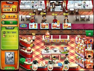 Burger Bustle - Standard food serving time management game. I definiteley enjoyed the second installment in this series better. This one is just a bit too repetitious for me.