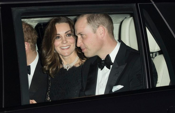 The royals, who were dressed in black tie, were heading for a private dinner at the castle to mark the monarch's platinum anniversary