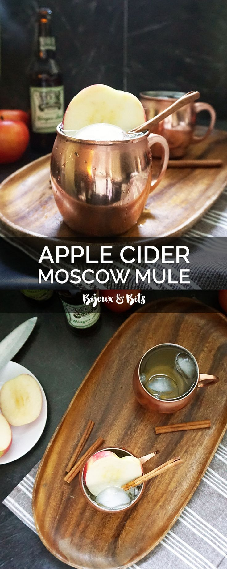 Hard apple cider, ginger beer, and ginger vodka combine in this yummy Fall-inspired drink.