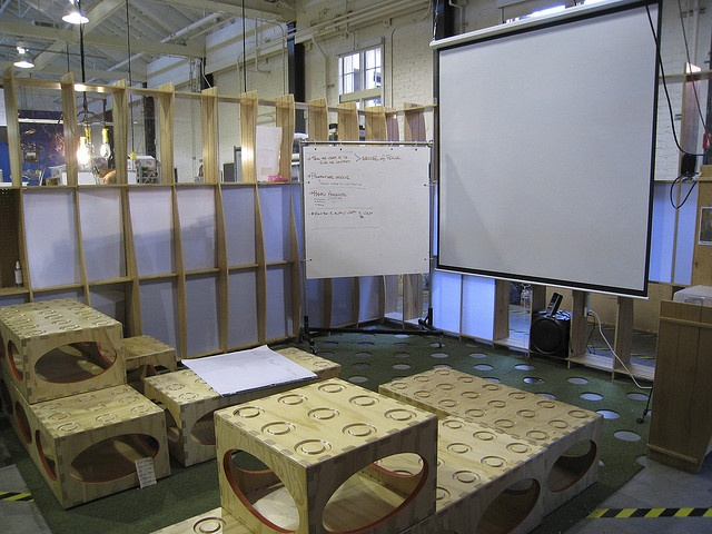 Stanford d.school - g's school and google use cheaper versions of these blocks.