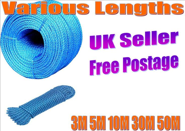 Rope Blue Polypropylene Poly Coils Camping Marine Agriculture DIY