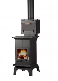Tiny Wood Burning Stove With Oven!