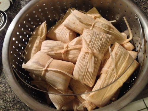 Homemade Tamales (with Black Beans and Spanish Rice) - Plan on 2 days to make these
